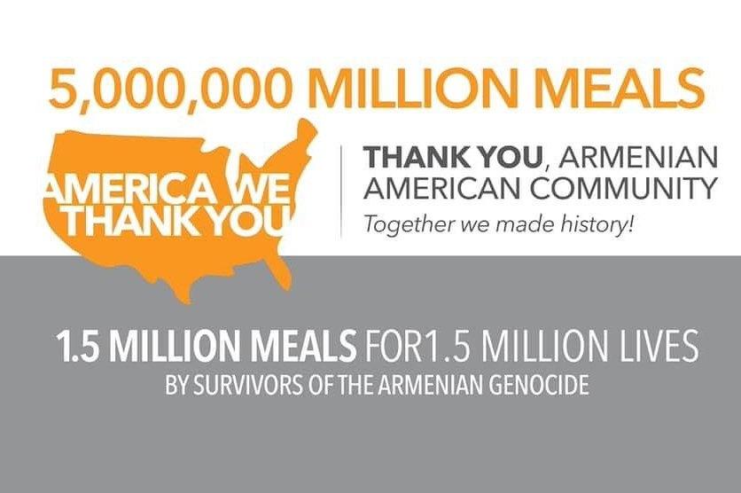 Армяне США пожертвовали более 5 млн порций еды пострадавшим от Covid-19 семьям